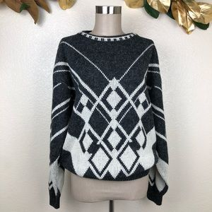 90s Grandpa Diamond Oversized Robert Bruce Sweater